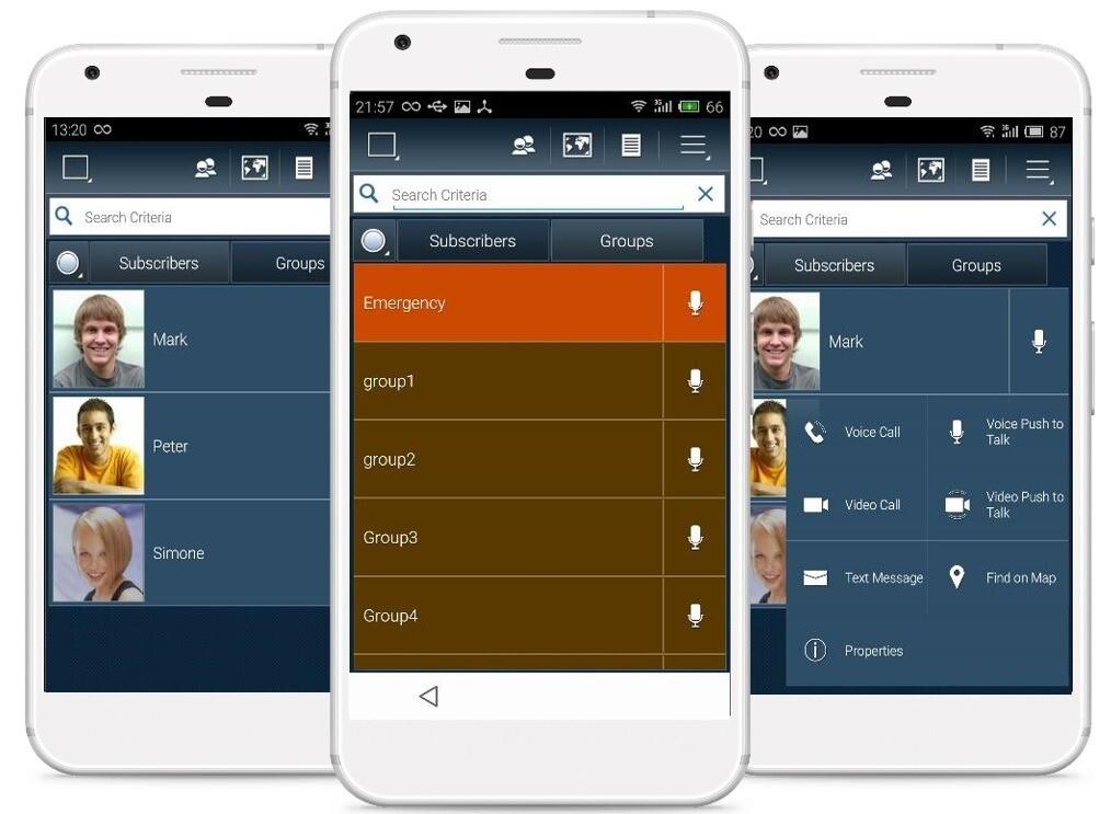 Příklad PoC aplikace pro chytré LTE vysílačky