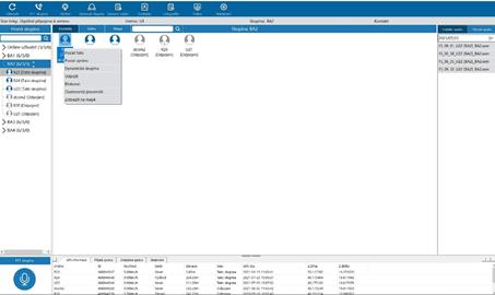 Součástí PoC komunikačního řešení je i profesionální dispečerská aplikace pro Windows