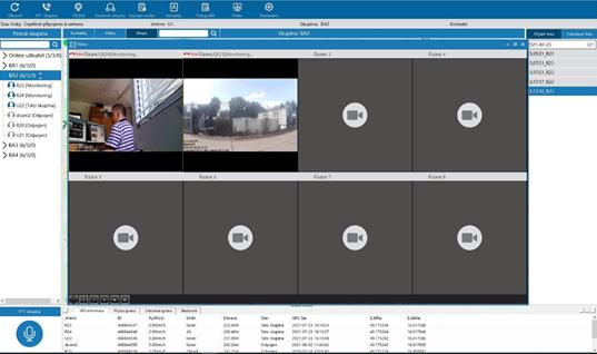 Velkou předností DCom PTT je video. Umožňuje dálkově monitorovat uživatele a předávat ho dalším uživatelům